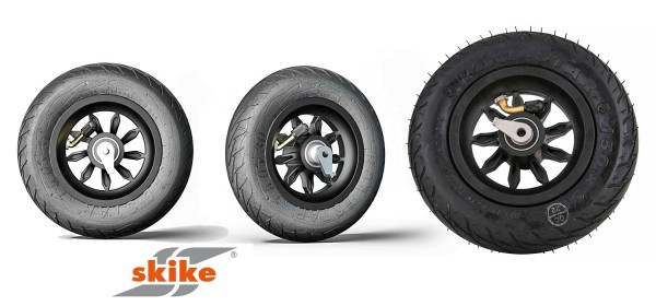 SKIKE 6 Zoll Rad schwarz mit Rücklaufsperre 9SB-RS-RLS