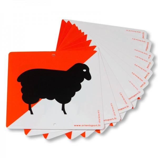 """ORIENTSPORT Postenmarkierungen Kunststoff \""""Farm\"""""""