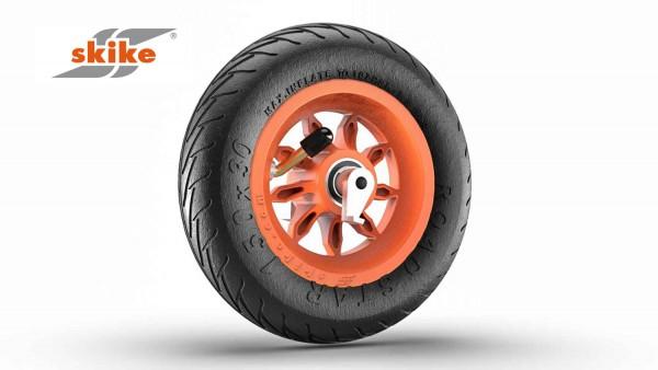 SKIKE 6 Zoll Rad orange mit Rücklaufsperre 9SO-RS-RLS