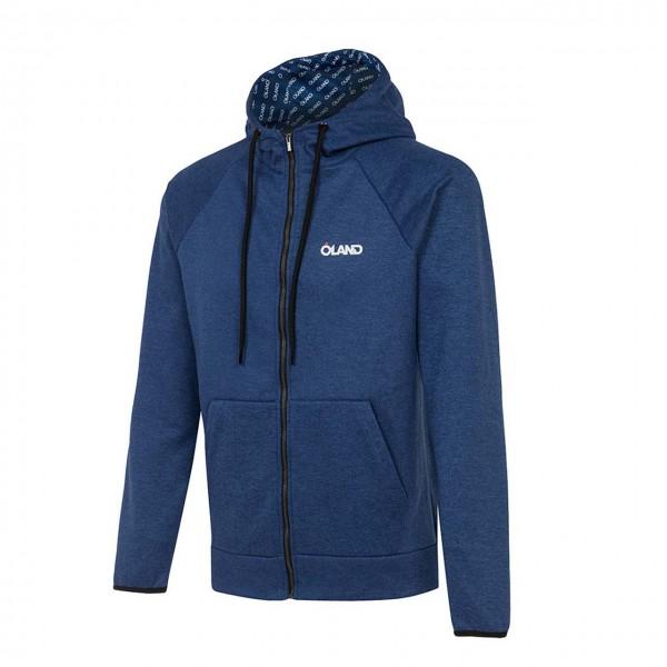 OLAND Cotton Sweatshirt - Blue melange men's