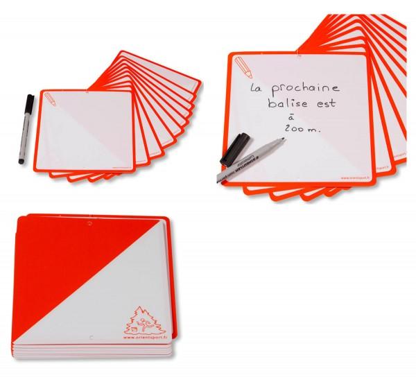ORIENTSPORT Postenmarkierungen Kunststoff - Stift + Text