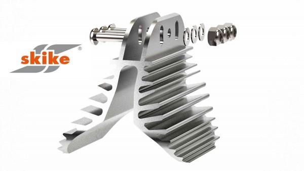 SKIKE Bremsbacke mit Kühlrippen für 200mm Räder P1-64