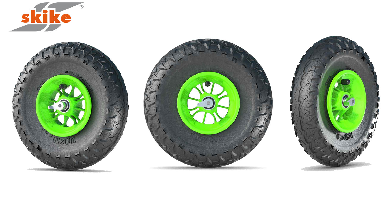 skike komplett Rad 8 x 2 Zoll Reifen Major Grip 200 x 50 grün