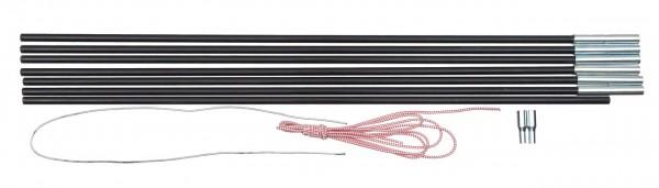BASIC NATURE Fiberglaszeltstange 7 Segmente - 7,9mm